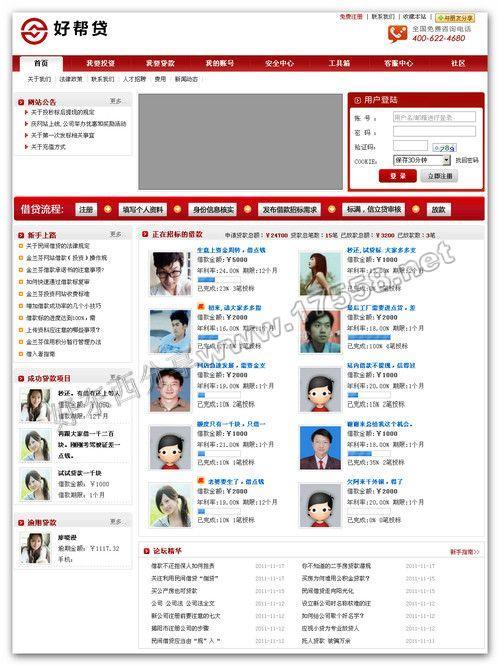 【PHP】贷齐乐p2p借贷网站系统V2.1(含社区功能)