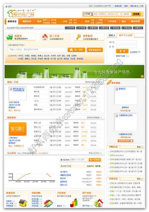 【PHP源码】安乐业房产网站管理系统V1.6商业版(橙色界面)
