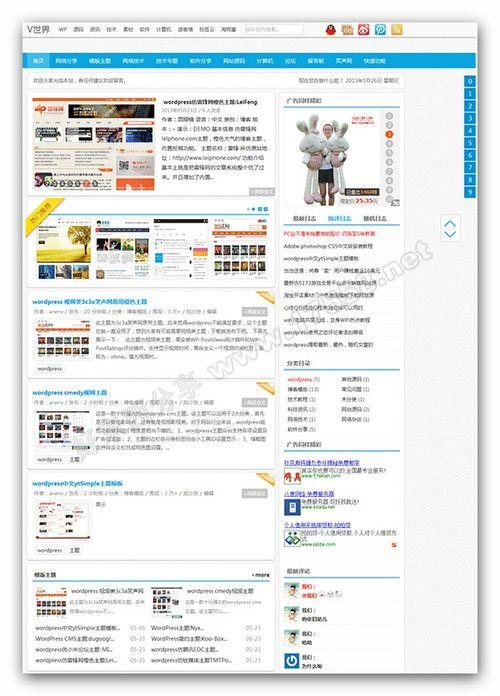 【WordPress模版】中文CMS主题Anenv