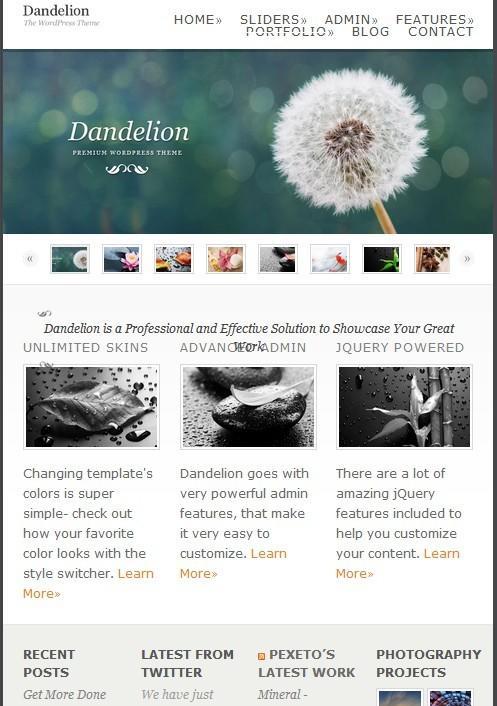 【wordpress】Dandelion简约主题