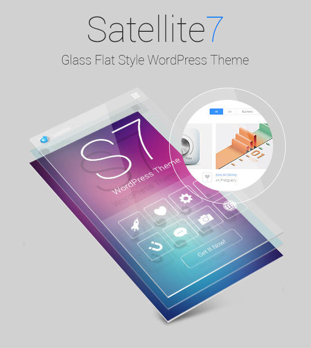 【WordPress】扁平化线条主题下载Satellite7