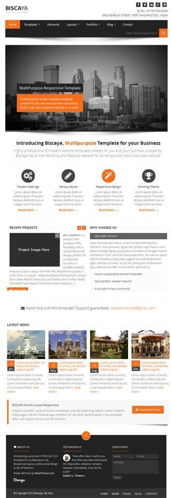 【wordpress】静态化企业主题biscaya 高端企业网站主题