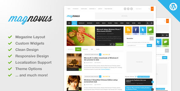 【博客主题】Magnovus WordPress博客杂志主题