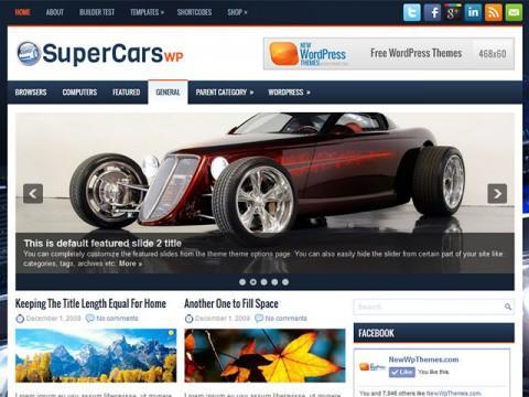 【博客主题】wordpress汽车主题supercars