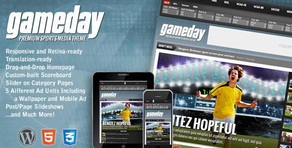 【cms主题】体育杂志主题gameday