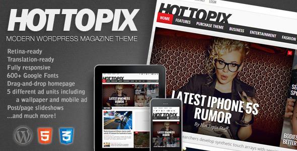 【cms主题】杂志主题HotTopix