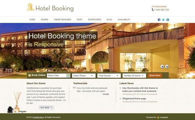 【汉化主题】HotelBooking汉化版酒店预订类主题