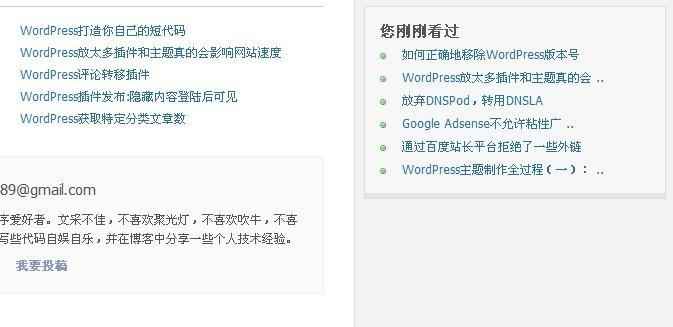 【wp插件】WordPress文章浏览记录插件