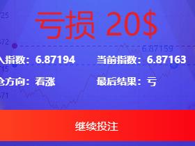 USDT指数涨跌蓝色UI二开币圈万盈财经币圈源码 K线正常