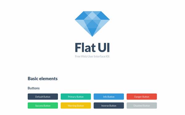 Flat UI界面工具v2.4.0 基于Twitter Bootstrap实现的精美的扁平风格UI工具包