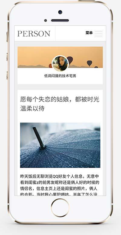 响应式个人随笔博客织梦模板 心情日记个人博客网站模板下载