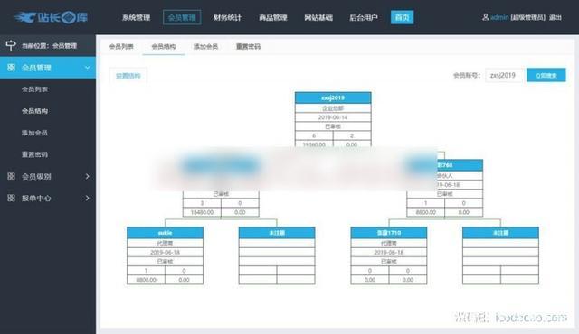 企业三级推广报单分销源码 会员推广注册系统源码